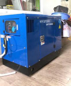 Máy phát điện 10kw chạy dầu 1pha. Hyundai DHY12500SE-t1