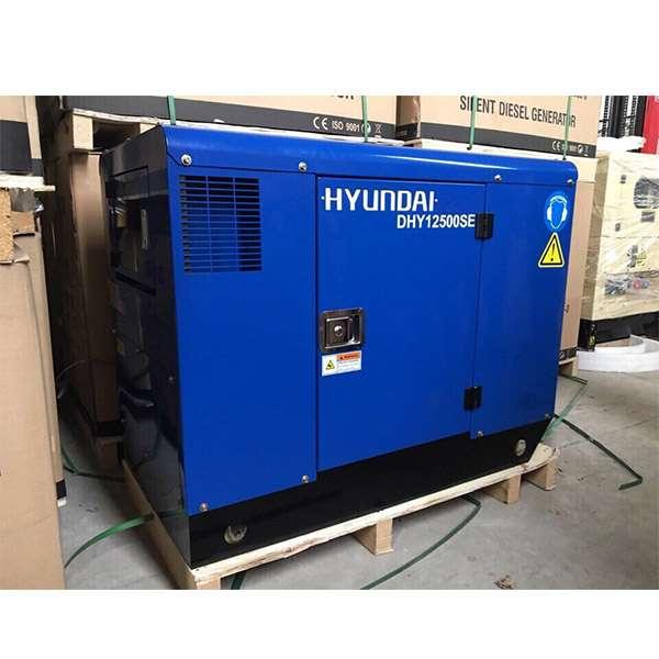 Máy phát điện 10kw chạy dầu 1pha. Hyundai DHY12500SE-t2