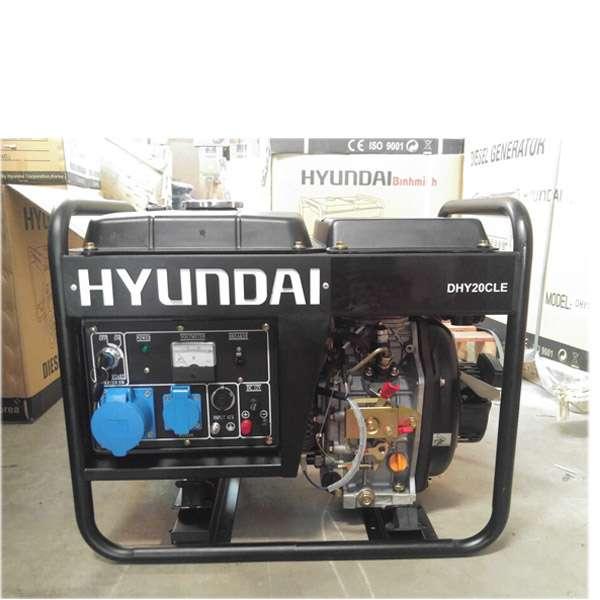 Máy phát điện chạy dầu 2kw. Hyundai DHY-20CLE-3