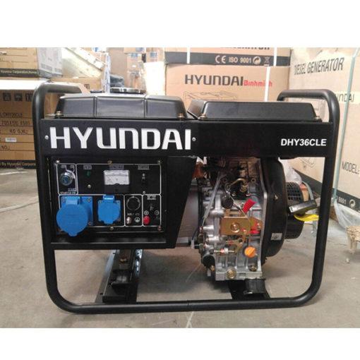Máy phát điện chạy dầu 3kw cho gia đình. Hyundai DHY-36CLE-1