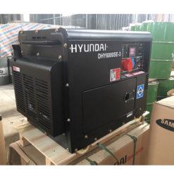 Máy phát điện chạy dầu 3pha 6kva cách âm. Hyundai DHY-6000SE3-t1