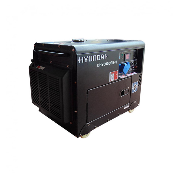 Máy phát điện chạy dầu 3pha 6kva cách âm. Hyundai DHY-6000SE3