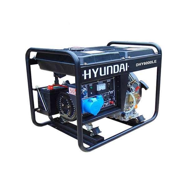 Máy phát điện chạy dầu 5kw. Hyundai DHY6000LE-P