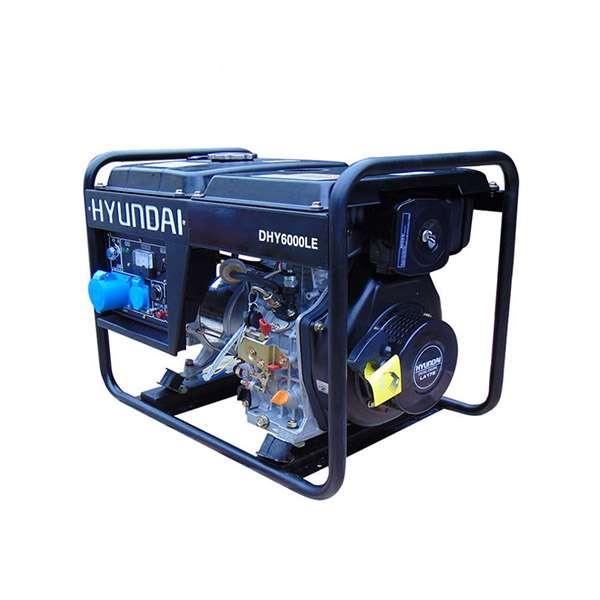 Máy phát điện chạy dầu 5kw. Hyundai DHY6000LE-T