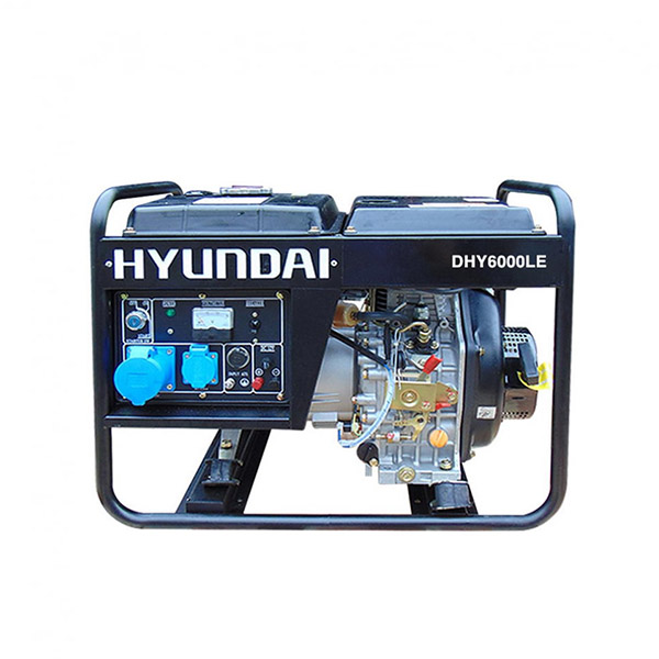 Máy phát điện chạy dầu 5kw. Hyundai DHY6000LE