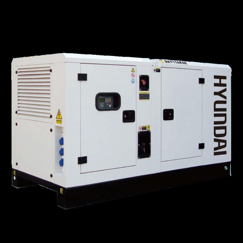 Máy phát điện 100KVA/80KW 3 pha công nghiệp chạy dầu. Hyundai DHY110KSE