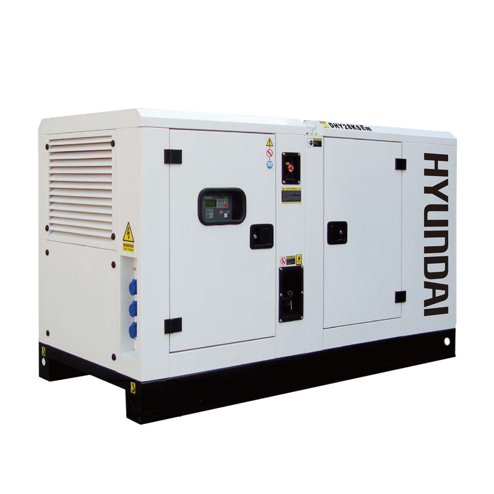Máy phát điện 25kw/25kva 1 pha công nghiệp chạy dầu. Hyundai DHY28KSEm