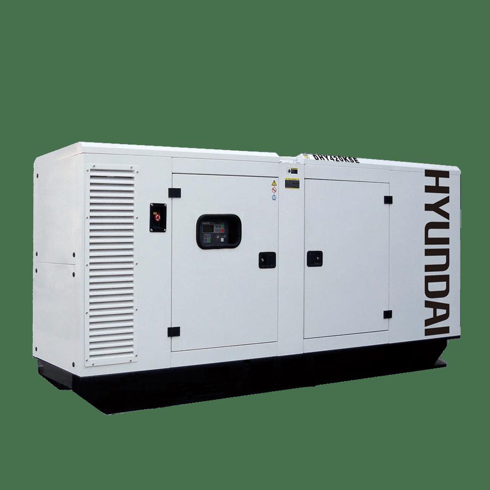 Máy phát điện 383KVA/306KW 3 pha công nghiệp chạy dầu. Hyundai DHY420KSE