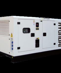 Máy phát điện 66KVA/52KW 3 pha công nghiệp chạy dầu. Hyundai DHY75KSE