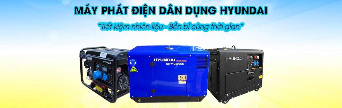 Máy phát điện dân dụng hyundai